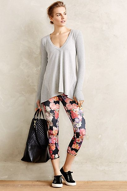 S/M. Love these! (and the sweater too) Pop-Print Capri Leggings ...