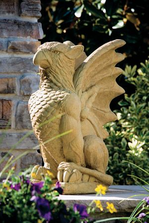 Ornaments, Concrete statues and Griffins on Pinterest