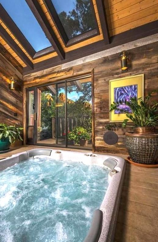 Pin By Nikki Reynolds On Favorite Places Spaces Small Indoor Pool Indoor Hot Tub Indoor Pool Design