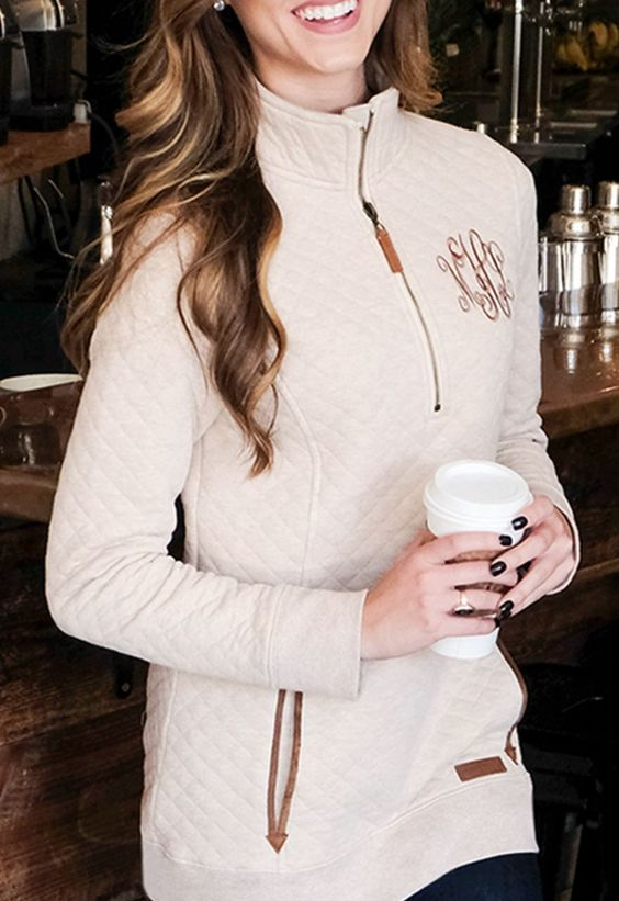 Cute monogrammed pullover