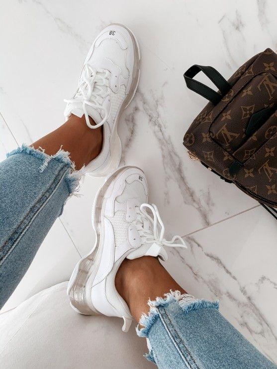 Adidasy Balenssio White Roxx5220 3 Fashion White Sneaker Shoes