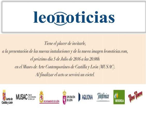 Leonoticias nos invita a la Gala  y Presentación de su nuevo diseño así como su nueva sede corporativa. Celebrado en el Museo de Arte Contemporáneo (Musac) en León.  Enhorabuena #NuevoLeonoticias !