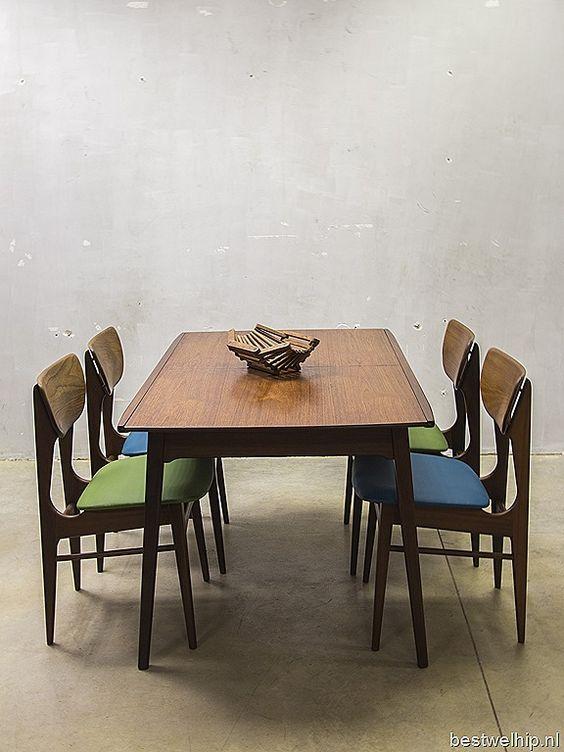 Webe Louis van Teeffelen vintage eetkamertafel dinner table dining table loft retro