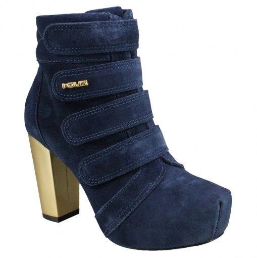 Bota Quiz 39-58810 - Carbono (Camurção) - Calçados Online Sandálias, Sapatos e Botas Femininas | Katy.com.br