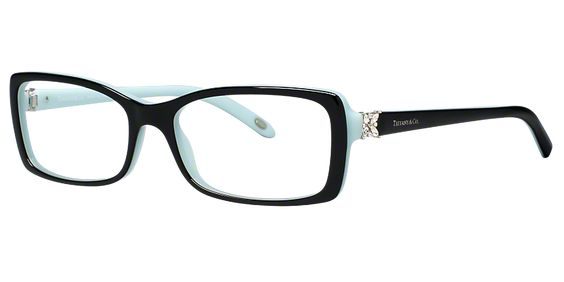 Embody iconic style with these designer women's eyeglasses from Tiffany & Co.® Lined with the fashion house's legendary Tiffany Blue™, these frames take flight witha crystal butterfly perching on each temple.