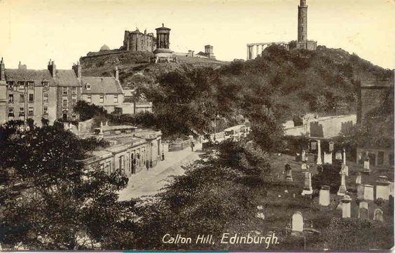""" Calton Hill, Edinburgh, Scotland "" Karodens Vintage Post Cards."