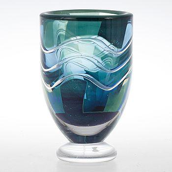 "VAS, glas, ariel, ""sund"", Jan Johansson, Orrefors 1991."