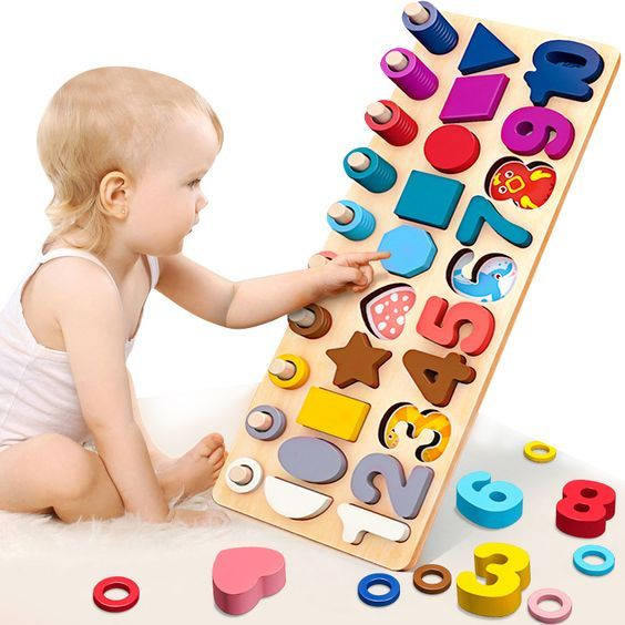 Math Numbers Puzzle Wooden Jigsaw Children Toy Educational Learn Preschool NEW