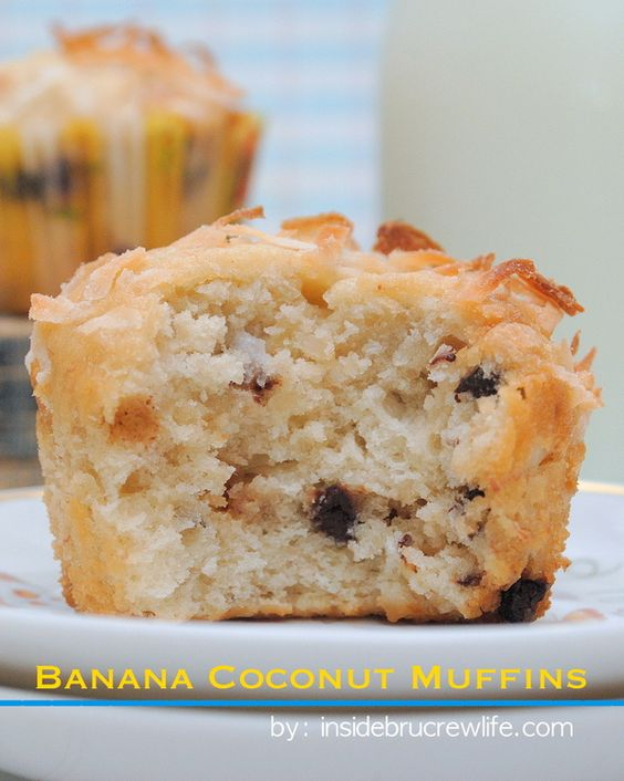 Banana Coconut Muffins - these amazing muffins are perfect for breakfast or snack  www.insidebrucrewlife.com