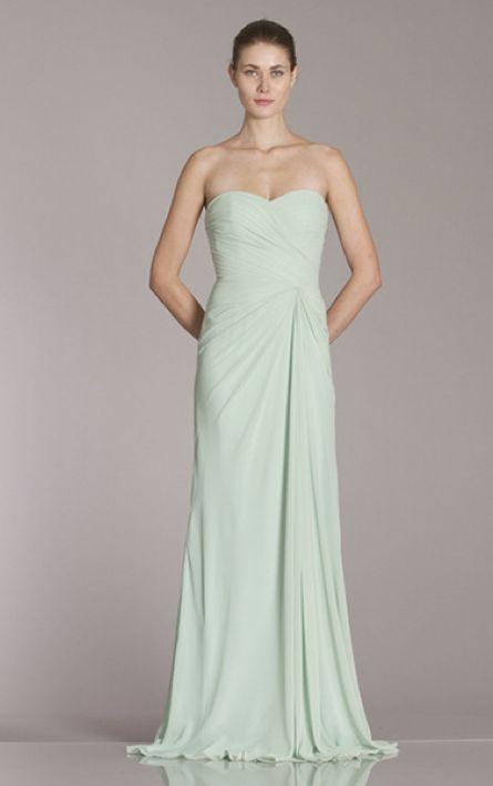 Monique Lhuillier Bridesmaid Dress 450170 Shown in Mint Chiffon ...