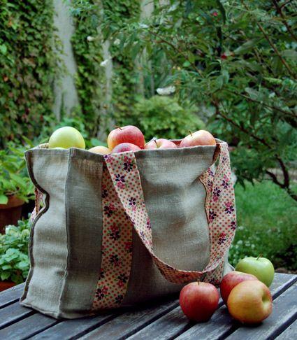 diy-apple picking tote