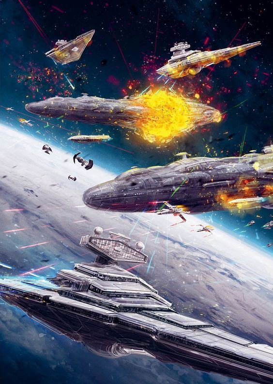 Millennium Falcon Fantasy Space Movie Art Canvas Pictures Star Wars Rogue One