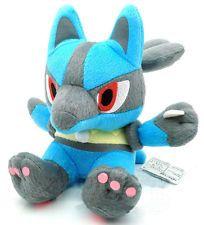 "New Cute Pokemon New LUCARIO 7"" / 18cm Soft Plush Doll Free Shipping"