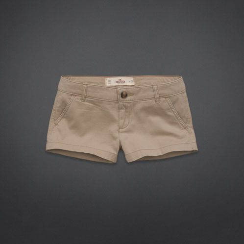 Low Rise Khaki Shorts