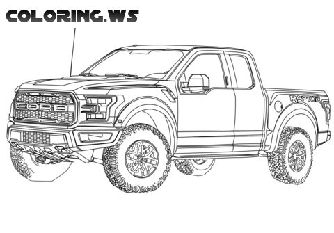 Ford Raptor Truck Coloring Page Truck Coloring Pages On The