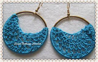 Sweet Nothings Crochet: SIMPLE HOOP EAR RING 1