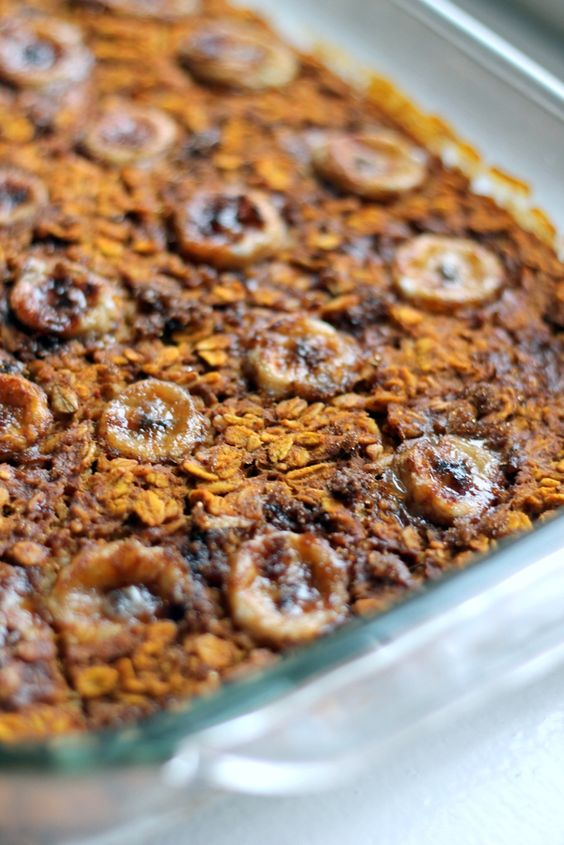Baked Pumpkin Pie Oatmeal with Vanilla Bean Caramelized ...