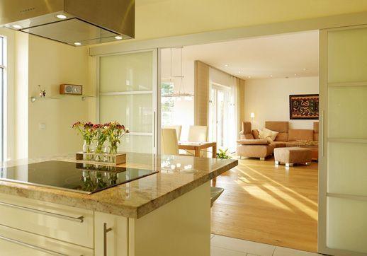 Schiebeture Zur Kuche Mehr Today Pin Kitchen Sliding Doors Attic Living Rooms Kitchen Dining
