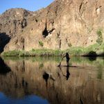 Outside magazine reviews the top 10 best locations to learn to SUP, including the caves along Black Canyon, Colorado River.