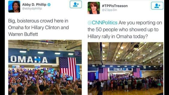 Perception people.  We are being played by the Corporatist Party of America, formally known as the DNC.  #FucktheDNC #DemExit #JillnotHill