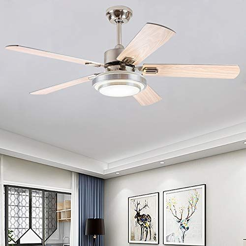Andersonlight Fan 52 Led Indoor Stainless Steel Ceiling Fan With Light And Remote Control In 2020 Ceiling Fan With Light Ceiling Fan Fan Light