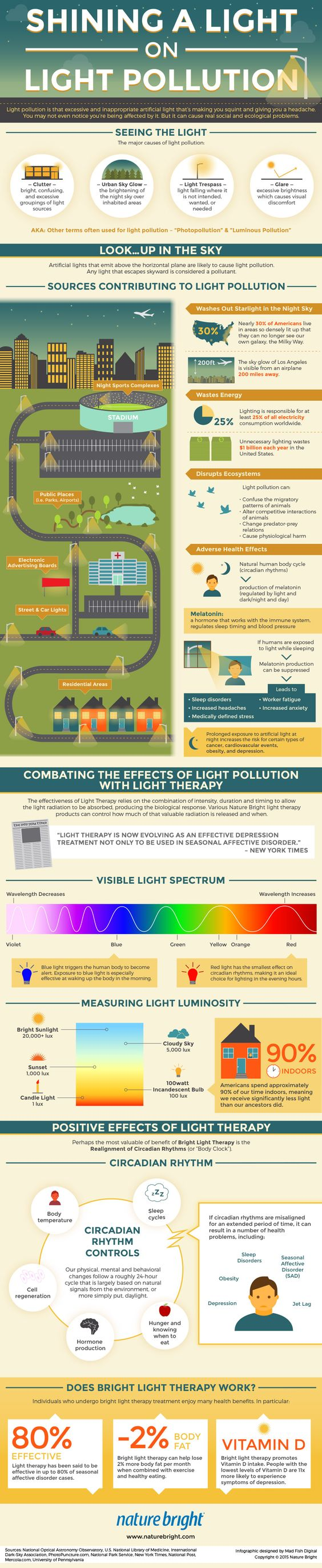 What is light pollution? What problems does it cause and how do you combat it? This infographic answers all these questions for you.