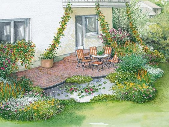 Neues Flair für eine alte Terrasse  Garten