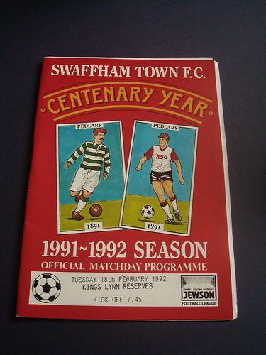 1991-92 Swaffham Town v King's Lynn Reserves (Jewson League)