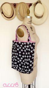 Accrô | Sophie skulls shoulder bag: 2-sided!
