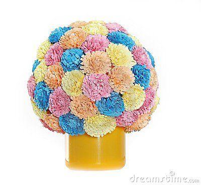 Bola de la flor de papel, quilling