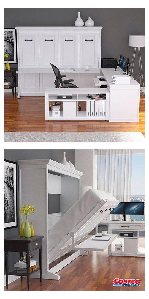 Melbourne Office Pro Queen Wall Bed With Desk White Murphy Bed Ideas Office Murphybedideasoffice Melbourne Qu In 2020 Murphy Bed Desk Wall Bed Modern Murphy Beds