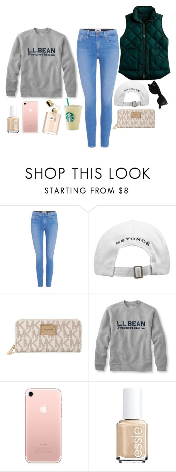 """Untitled #874"" by pearlsarealwaysappropriate on Polyvore featuring Paige Denim, Michael Kors, Essie and Ray-Ban"