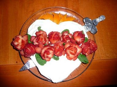 Catholic Cuisine: Immaculate Heart Cake for the Memorial of the Immaculate Heart of Mary in August.