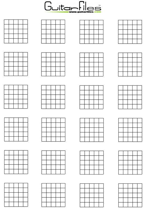 Blank guitar chords
