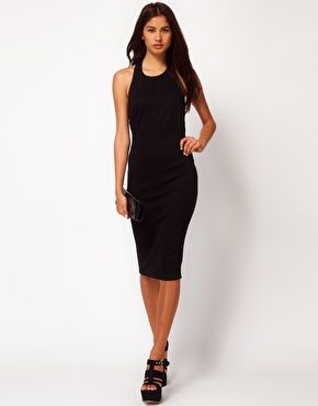 Enlarge ASOS Body-Conscious Dress With Chain Back $40.60