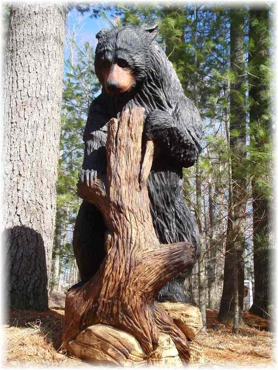 Cute bears awesome and wood carvings on pinterest