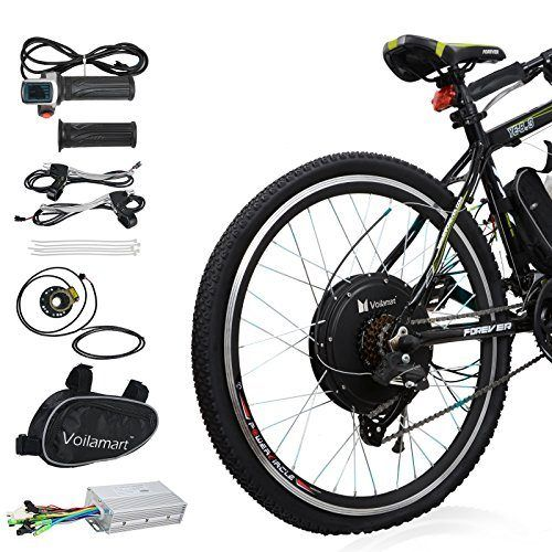 Voilamart Electric Bicycle Kit 26 Rear Wheel 48v 1000w E Bike Conversion Kit Cycling Hub Motor With Pas System For Road Bike In 2020 Electric Bicycle Kit Electric Bicycle Electric Bicycle Conversion Kit