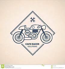 vintage cafe racer silhouette