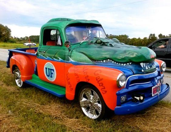 University Of Florida Gator Decorated Trucks Gators