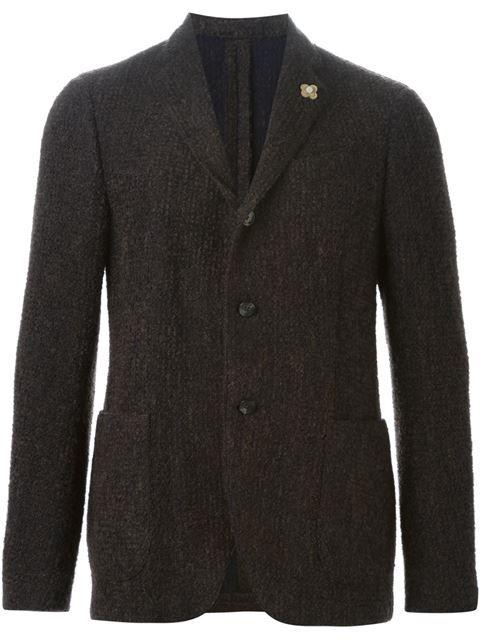 Shoppen Lardini notched lapel blazer    von Al Duca d'Aosta aus den weltbesten Boutiquen bei farfetch.com/de. In 300 Boutiquen an einer Adresse shoppen.