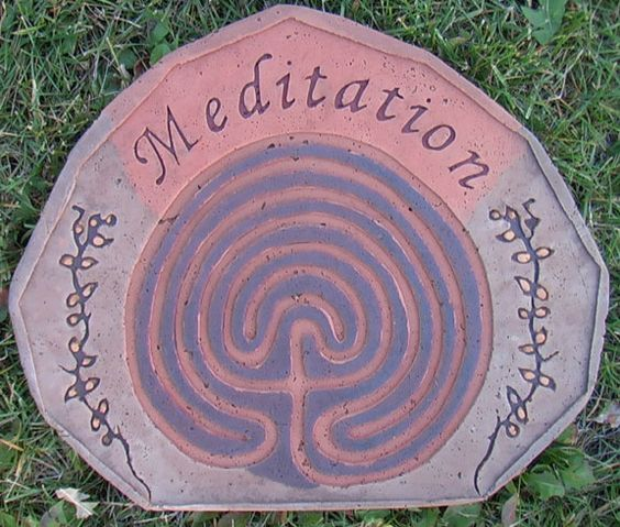 Meditation garden stepping stone.