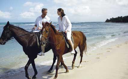 couple romantic riding
