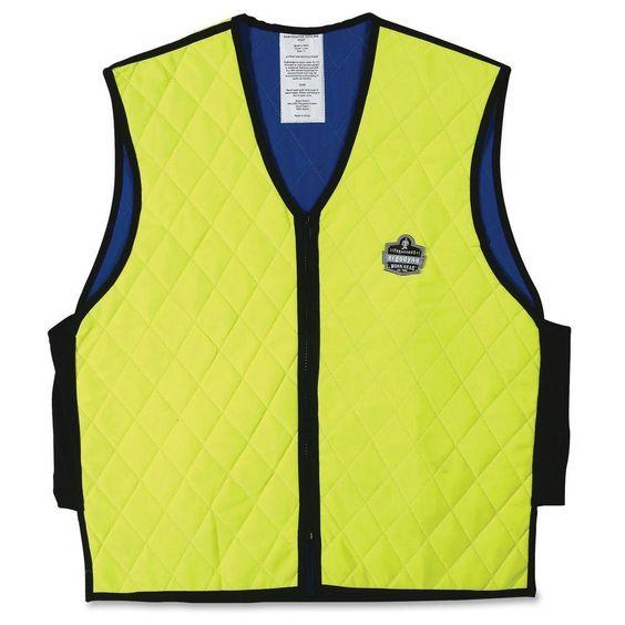 Ergodyne Chill Its 6665 Evaporative Cooling Vest Adult Unisex Yellow Vest Clothes Work Wear