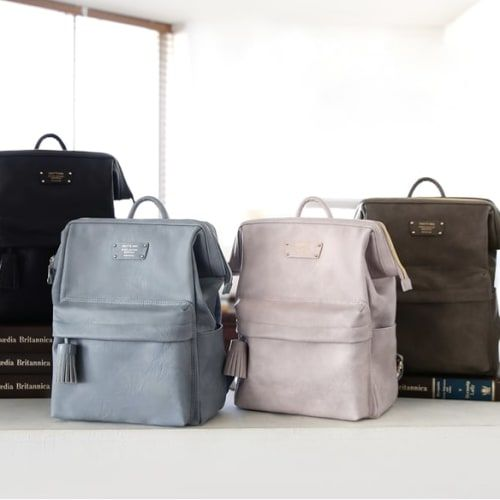 Cratte Mini Office Leather Business Backpack