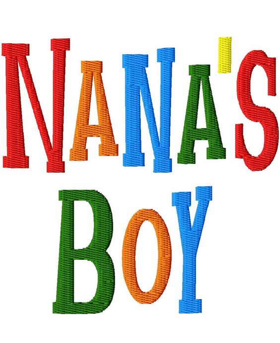 Nanas Boy - Machine Embroidery - 8 sizes