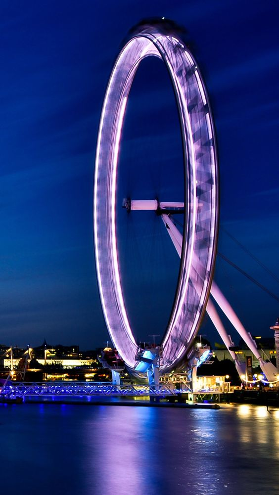 London Eye At Night Wallpaper