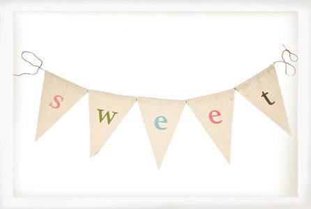 Personalized Alphabet Flag Banner via @Suzanne Rosenberry Rooms