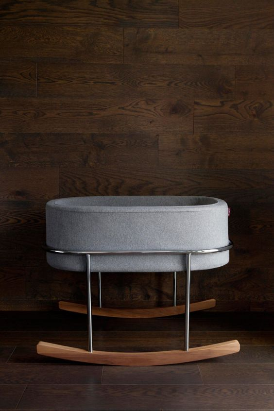 They may be small but newborns need cool, luxurious places to sleep too | The Rockwell Bassinet by Ralph Montemurro for Monte Design.