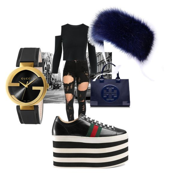 """""""Untitled #70"""" by callyfordham ❤ liked on Polyvore featuring Tory Burch and Gucci"""