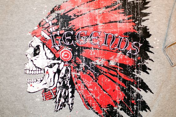 Legends Indian Skull NEW T-Shirt Small Medium Large XL XXL Unisex Mens Womens Tee by TimeofReason on Etsy